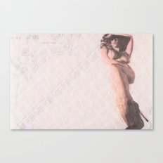 Reclining Lace Nude Canvas Print