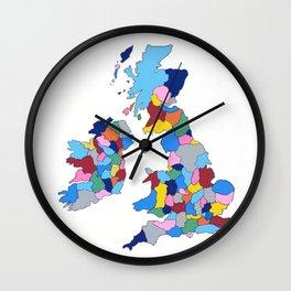 England, Ireland, Scotland & Wales Wall Clock