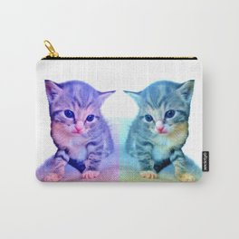 Cute Colorful Cat Couple Carry-All Pouch