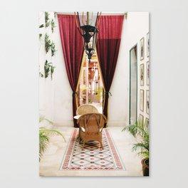Colonial Style Tea Room in Merida, Mexico Canvas Print
