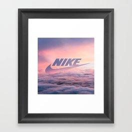 Just Do It (Cloud Edit) Framed Art Print