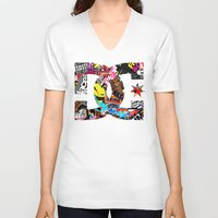 decal V-neck T-shirts featuring Desivo Dc Hand Stickers Bomb Decal Usdm Jdm by arul85