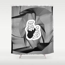 Built On Glass Shower Curtain