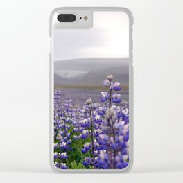 Lupins. Clear iPhone Case