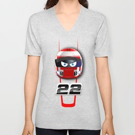 Jenson BUTTON_2014_Helmet #22 Unisex V-Neck