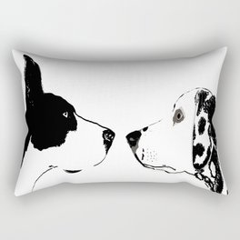 Great Dane Dog with Dalmatian Dog Rectangular Pillow