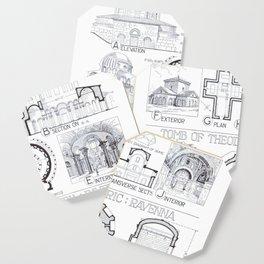 Fletcher's History of Architecture (1946) - Byzantine: S. Constanza Rome; Tombs, Ravenna Coaster