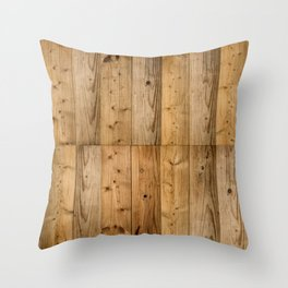Wood 6 Throw Pillow
