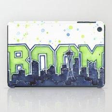 Seattle Legion of Boom Space Needle Skyline Watercolor iPad Case