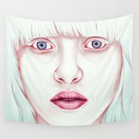 jem Wall Tapestries featuring GIRL by Laura O'Connor