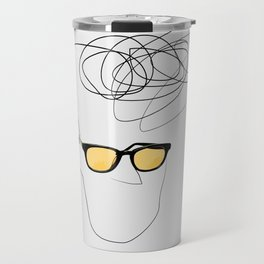 Unknown Man Portrait With Cool Haircut Travel Mug