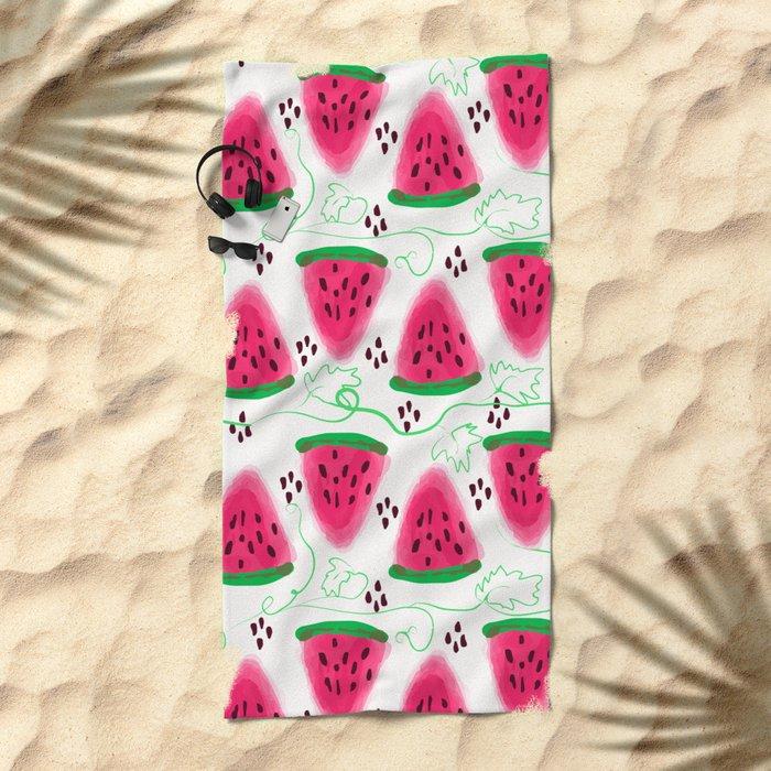 Watermelon pattern. Beach Towel
