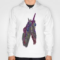 trippy Hoodies featuring trippy unicorn by Dal Sohal