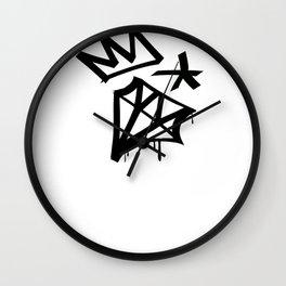 Diamond Crown Star Wall Clock
