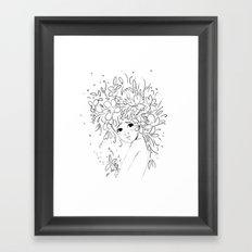 Flowergirl Framed Art Print