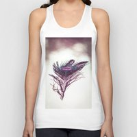 peacock feather Tank Tops featuring Peacock Feather by Yorkwaypictures
