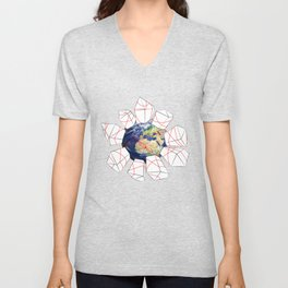 Wrapped to a Warped World Unisex V-Neck