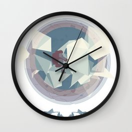 Astronaut and ice planet Wall Clock