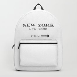 watercolor new york new york Backpack