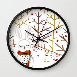 First Pumpkin Spiced Latte of the Season Wall Clock