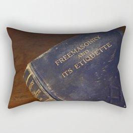 The  Old Blue Freemasonry Book Photograph Rectangular Pillow