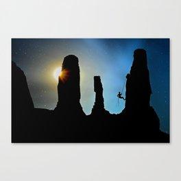 Rock Climbing Mountaineer Canvas Print