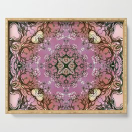 Purple mandala Serving Tray