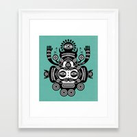 tatoo Framed Art Prints featuring Râ Tatoo by Exit Man