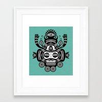 tatoo Framed Art Prints featuring Râ Tatoo by Exit Man
