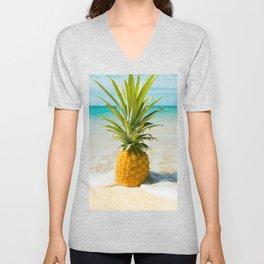 Pineapple Beach Unisex V-Neck
