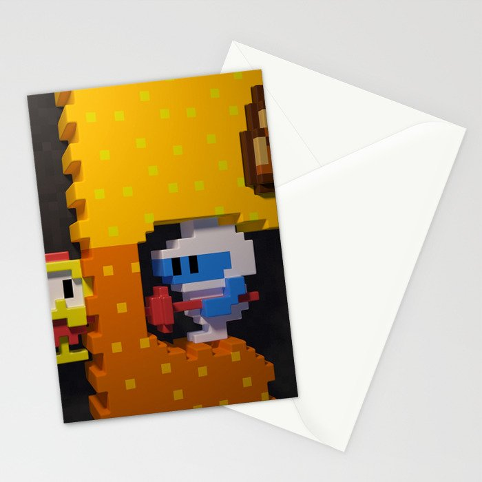 Inside Dig Dug Stationery Cards