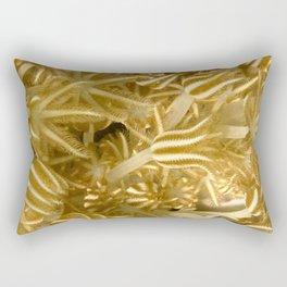 Grasping (in gold) Rectangular Pillow