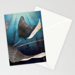 Metallic Stingray Stationery Cards