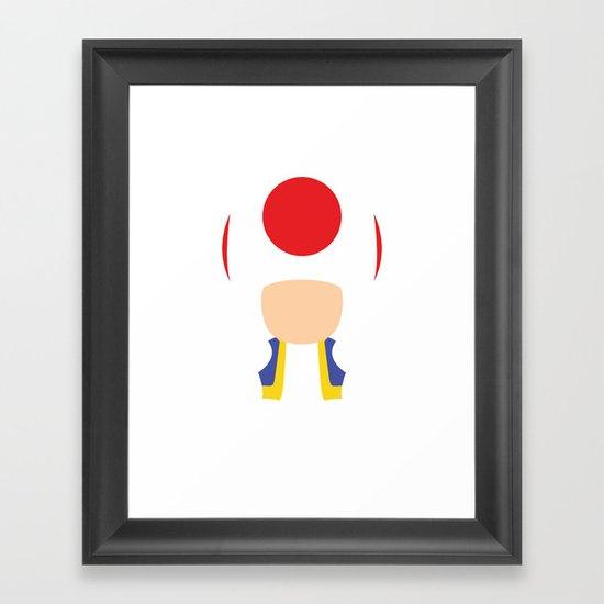 Mario - Toad Framed Art Print