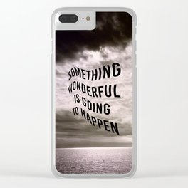 The Optimist Clear iPhone Case