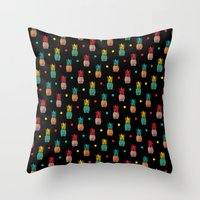 pineapples Throw Pillows featuring Pineapples! by Rendra Sy