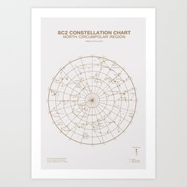 North circumpolar region Art Print