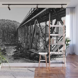 A Bridge into the Woods Wall Mural