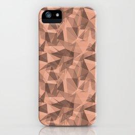 Abstract Geometrical Triangle Patterns 3 Pratt and Lambert Earthen Trail 4-26 iPhone Case