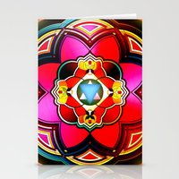 sacred geometry Stationery Cards featuring Sacred by Sircasm