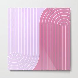 Two Tone Line Curvature VI Metal Print