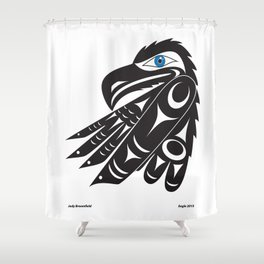 Eagle  by: Jody Broomfield Shower Curtain