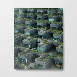Stacked House Metal Print