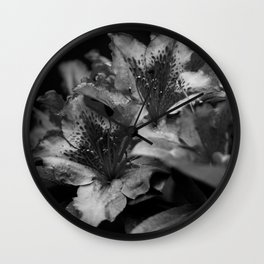 Savoring Every Moment (Black & White) Wall Clock