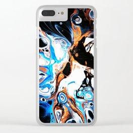 Magic Nebula Clear iPhone Case