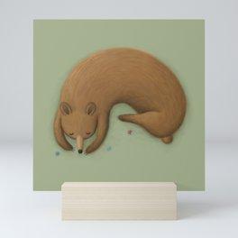 Sleepy Bear Mini Art Print