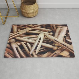 Wooden Pin-Up Rug