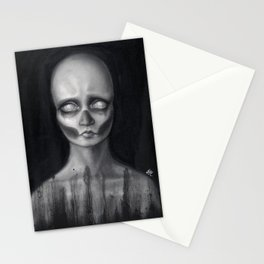 Death masque Stationery Cards