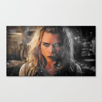 bad wolf Canvas Prints featuring Bad Wolf by Taylor Bookout