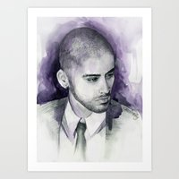 zayn Art Prints featuring zayn  by Seefirefly